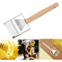 Miele Scrapper manico in legno, in nido d'ape Miele raschietto strumento in acciaio inox Miele DEBOUCHAGE rottamazione raschietto Range Range Di Miele Honeycomb DEBOUCHAGE raschietto Gamma