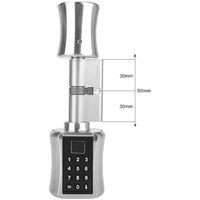 Intelligente antifurto porta di sicurezza serratura a cilindro nucleo modo pratico originale di sblocco: impronta digitale + password + key Modello: C001B-30/30 (single version)
