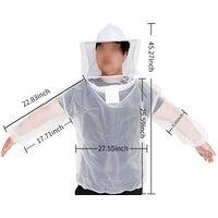 Top in garza di maglia bianca traspirante con cappuccio a prova di ape xm1090 bianco