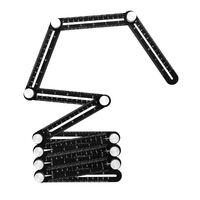 Righello pieghevole in lega di alluminio, 12 pieghe, misurazione multi-angolo, utilizzato per lavori di costruzione