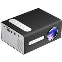 TOPRECIS Mini proiettore Proiettore di film portatile per esterni con schermo da 100 '' Proiettore 1080P Telecomando supportato Compatibile con TV Stick Videogiochi USB TF AV T300 EU,modello:Spina EU,Nero
