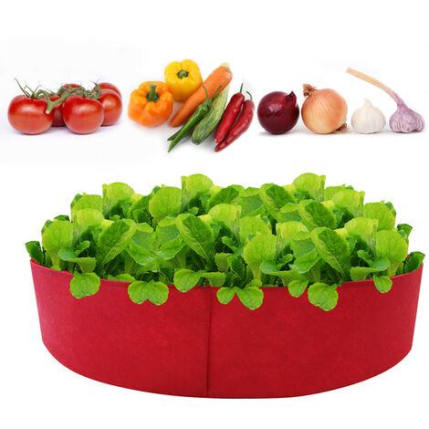 10Gallon Pflanzer Zuchtbeutel Verdickter Pflanzer Beutel Runde Form Behalter Garten Vliesstoff Pflanzentopfe zum Pflanzen von Gemuse Blumen Krauter Krauter, Rot