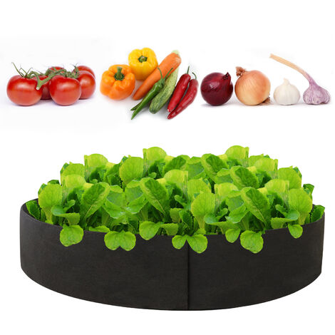 10Gallon Planter Grow Bag Form Pflanzer Bag Verdickter runder Behalter Vliesstoff Gartentopfe, 50 * 20cm