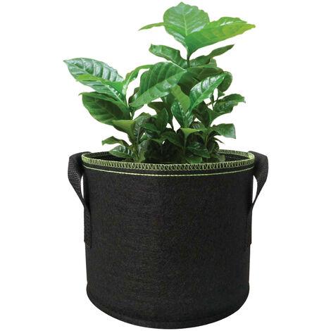 25 Gallonen Pflanzer Grow Bag mit verdicktem Griff Pflanzer Bag Runde Form Stoffbehalter Gartenpflanze Vlies Topfe zum Pflanzen von Gemuse Blumen Krauter Obst, B 25 Gallonen