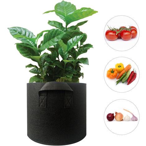 45 Gallonen Pflanzbeutel mit verdicktem Griff Pflanzer Beutel Runde Form Stoffbehalter Gartenpflanzen Vlies Topfe zum Pflanzen von Gemuse Blumen Krauter Obst, 45 Gallonen