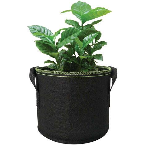 30 Gallonen Pflanzer Grow Bag mit verdicktem Griff Pflanzer Bag Runde Form Stoffbehalter Gartenpflanze Vlies Topfe zum Pflanzen von Gemuse Blumen Krauter Obst, B 30 Gallonen