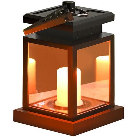 Starnearby Bright Outdoor Vintage Hängende LED Solar Laterne Kerze Lampe Sc SL#