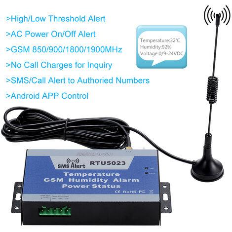 GSM SMS Alarm System Temperatur Luftfeuchtigkeit Energie Status uberwachung Unterstutzung Android APP Steuerung 850/900/1800/1900MHz