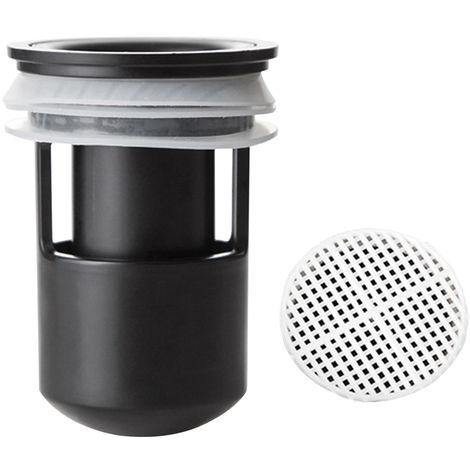 Deodorant floor drain + cuttable filter 2424 black
