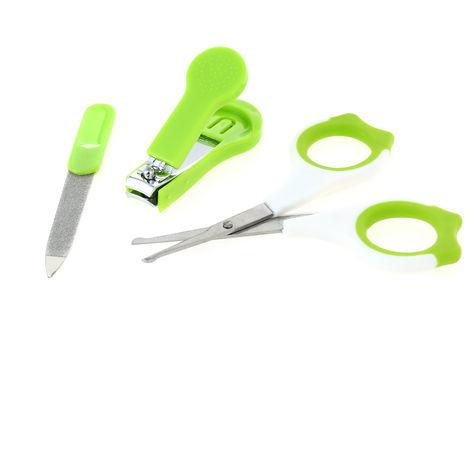 Nail Clipper + Scissors + Nail Sharpener Set Green