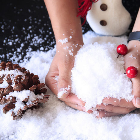 Snow powder Christmas tree snowflake party decorations