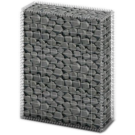 Gabion Basket with Lids Galvanised Wire 100 x 80 x 30 cm