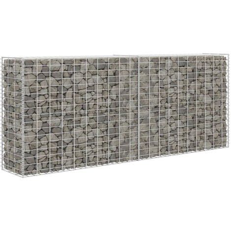 Gabion Basket Steel 85x30x200 cm Silver