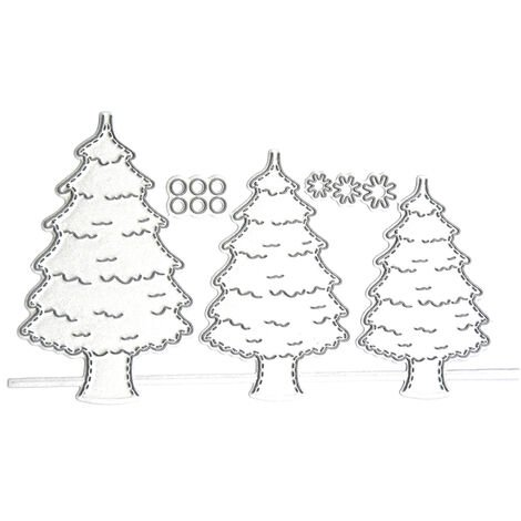 Christmas Metal Cutting Dies Xmas Tree Cute Cats Shape Cutting Die for Kids DIY Scrapbooking Card Photo Album