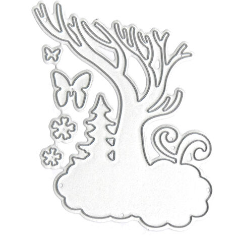 Christmas Metal Cutting Dies Xmas Tree Bird Shape Cutting Die for DIY Scrapbooking Card Photo Album Embossing Paper Cards