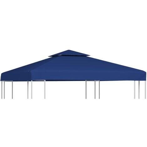 Gazebo Cover Canopy Replacement 310 g / m2 Dark Blue 3 x 3 m