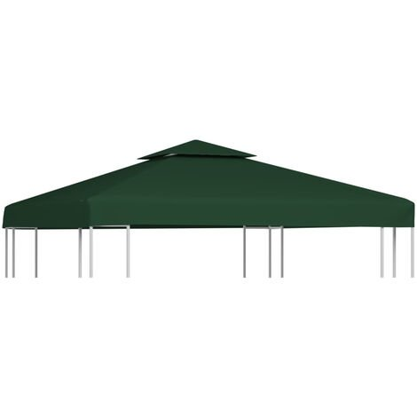 Gazebo Cover Canopy Replacement 310 g / m2 Green 3 x 3 m