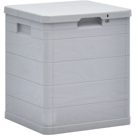 Garden Storage Box 90 L Light Grey