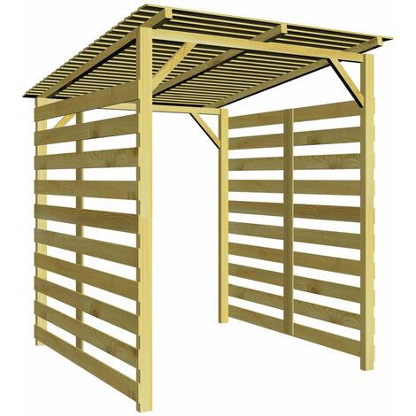 Garden Firewood Storage Shed FSC Impregnated Pinewood