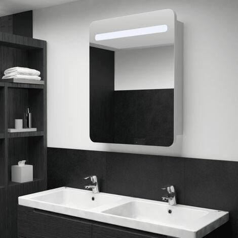 LED Bathroom Mirror Cabinet 60x11x80 cm