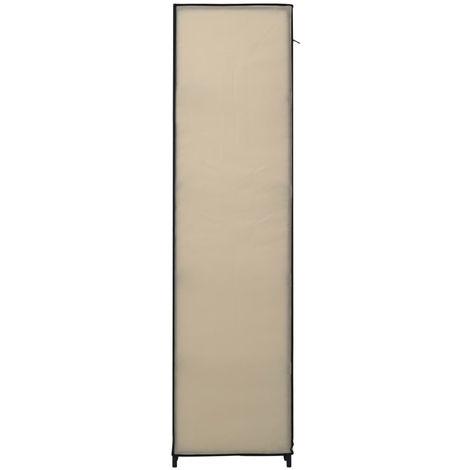 Folding Wardrobe Cream 110x45x175 cm Fabric