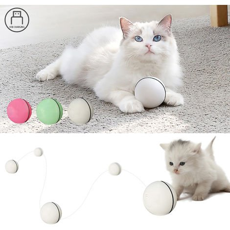 Electric Interactive Cat Toy Ball Rolling Ball Exercise, Green