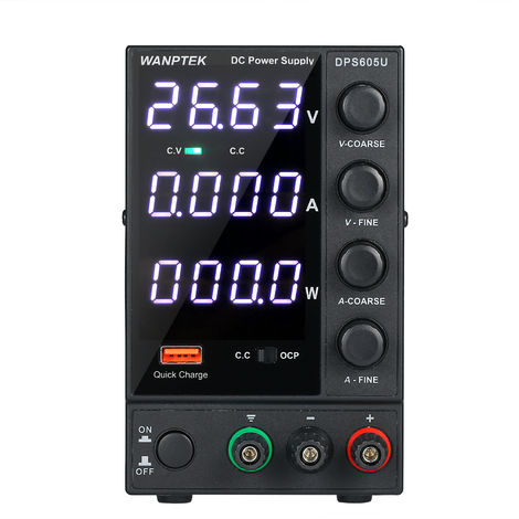 WANPTEK DPS605U 0-60V 0-5A 300W Switching DC Power Supply 4 Digits Display LED High Precision