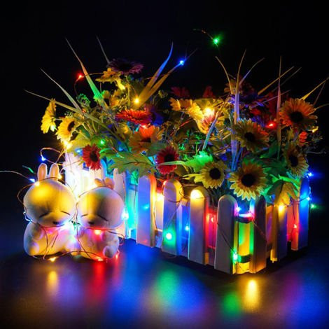 Outdoor Fairy String Light Multimodal Optional Night Lights Garden and Christmas Party Decoration Lighting, Multicolor, 200 LEDs