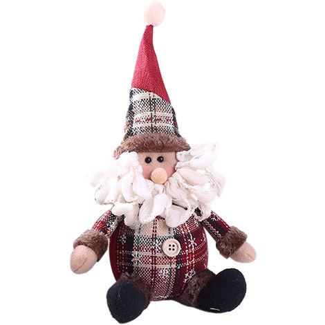 Christmas Gift Cute Santa Claus Snowman Elk Cotton Stuffed Toy Ornaments Xmas Tree Table Decoration Doll