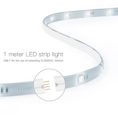 Yeelight WIFI Connected RGB Intelligent Strip Light (ONLY for the Use of extending YLDD04YL Version) 1 Meters AC100-240V 2.1W Supported Smart Phone App Control