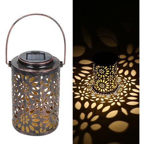 Outdoor Lighting Solar Light Hollowed-out Solar Powered Lawn Light Hanging Landscape Decoration Lamp