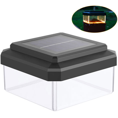 Solar Powered Light with 8LED Solar Post Cap Light Outdoor Lamp Landscape Lighting IP65 Water-resistant Fence Post Light