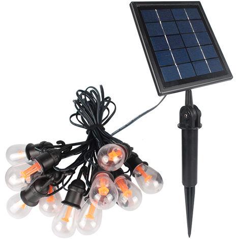 12 Bulbs Portable Outdoors Waterproof Solar Energy String Lamp Christmas Decoration Solar Lights