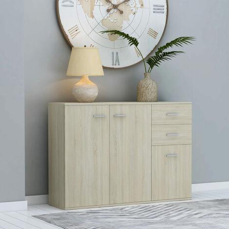 Sideboard Sonoma Oak 105x30x75 cm Chipboard