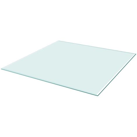 Table Top Tempered Glass Square 800x800 mm