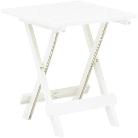 Folding Garden Table White 45x43x50 cm Plastic