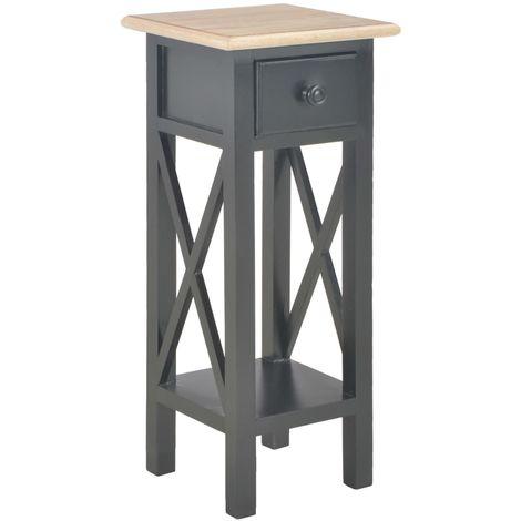 Side Table Black 27x27x65.5 cm Wood