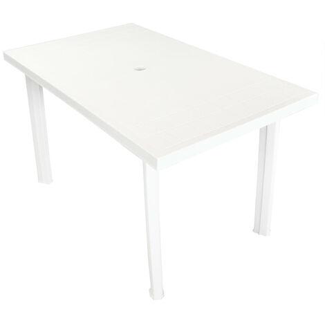 "Garden Table 49.6""x29.9""x28.3"" Plastic White"