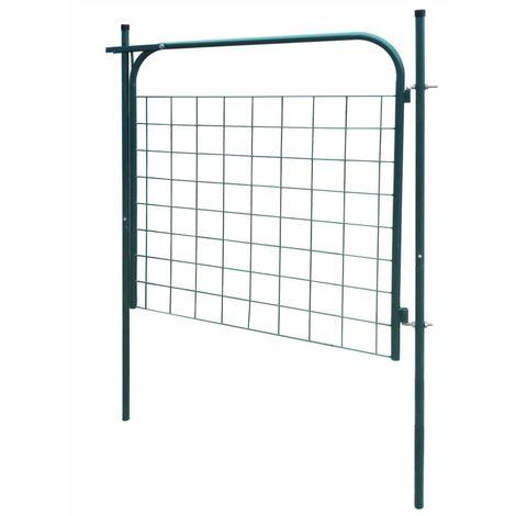 Garden Fence Gate 100x100 cm Green
