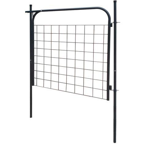 Garden Fence Gate 100x100 cm Anthracite