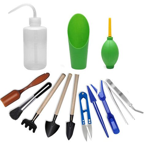 Potted conventional gardening kit, 13 piece set, Green