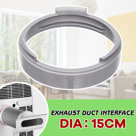 The circular interface of the air conditioner body is suitable for exhaust pipes with a diameter of 15cm/5.91in, White, Round