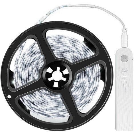 LED Strip Lights 9.84ft 6500K Cool White Tape Light with Motion Sensor Dimmable Ribbon Light Waterproof Flexible Undercabinet Tape Lighting Rope Lighting for Home Kitchen Under Cabinet Bedroom,model:White Cool White & 9.84ft & Internal Battery