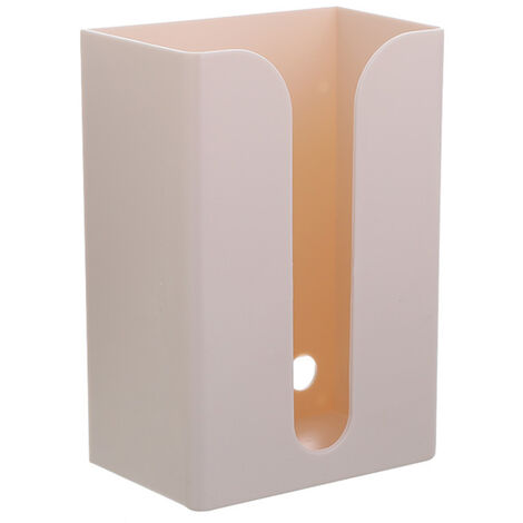 Paper Towel Dispenser Wall Mounted No-drilling Paper Towel Holder Dispenser Bathroom Toilet Tissue Dispenser Garbage Bags Dispenser Home Kitchen Paper Extraction Dispenser,model:Apricot