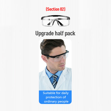 Multifunctional Protective Goggles Protective Glasses Anti-splash Anti-dust Anti-wind Anti-sand Eyes Protector Safety Goggles,model: 2