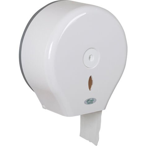 Paper Towel Dispenser Drilling Wall Mounted Paper Towel Holder Dispenser Bathroom Toilet Tissue Dispenser Kitchen Paper Towel Dispenser,model:White