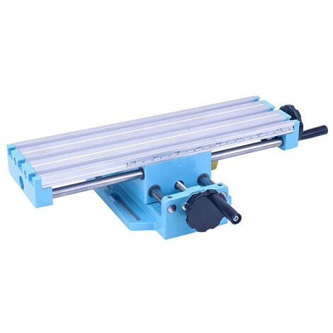 Mini Accuracy Milling Table Workbench Mill Machine Vise Multifunctional Assisted-bench Boring Positioning Cross-Adjustment,model:Multicolor