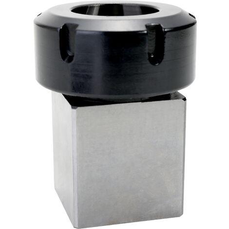 ER40 Square Collet Chuck Block Holder CNC Tool Hard Steel For Lathe Engraving Machine Hole Drilling,model:Multicolor