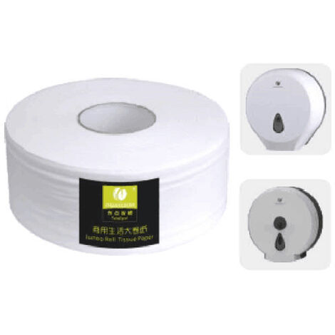 CHUANGDIAN 1 Roll Toilet Paper Bathroom Roll Paper Towels Pulp Wood Kitchen Roll Papers Soft & Comfortable for Home Office Hotel Restaurant,model:White 1 Roll
