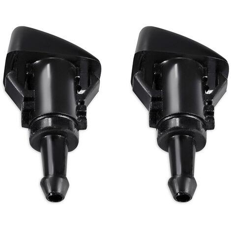 2PCS Windshield Washer Nozzle Water Sprayer Rear Wiper Screen Washer Jet 5303833AA /5160308AA,model:Black